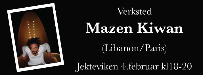 Verksted med Mazen Kiwan