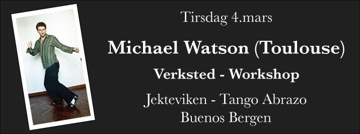 Michael Watson kommer til Bergen